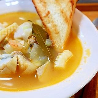 鱈と野菜のスープ*パプリカ風味