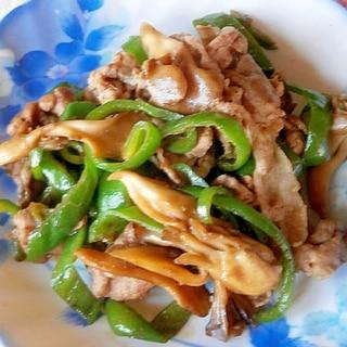 ピーマン・豚肉・舞茸の炒めもの
