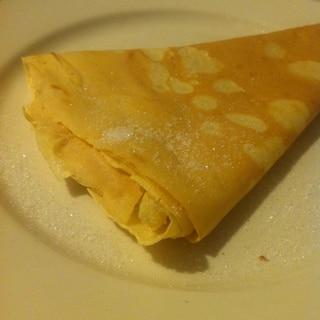 余ったクレープの皮で!バターシュガークレープ