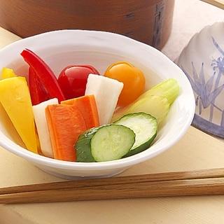延命酢で作る 彩り野菜ピクルス