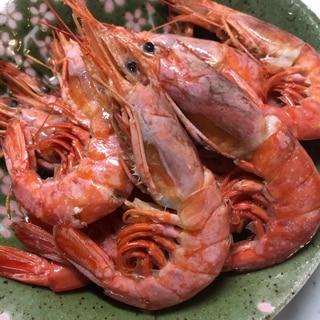 お祝い♡アルゼンチン赤海老のサッと煮(^^)