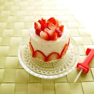 1歳誕生日 ケーキ!水切りヨーグルト&食パン♪