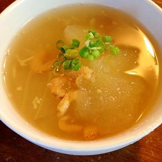 冬瓜と干しエビのあんかけスープ