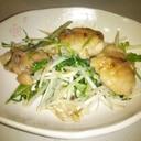 水菜と鶏肉の簡単ガーリック炒め