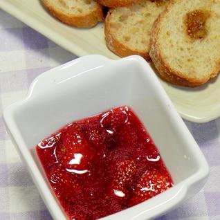 あまった苺はレンジで5分お手軽イチゴジャム