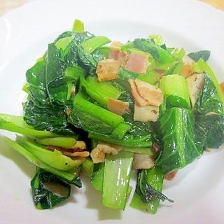 簡単もう1品に~小松菜とベーコンのクレソルソテー