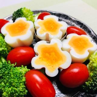 基本のゆで卵❤️裏技!花形ゆで卵