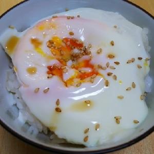 半熟卵のせご飯☆彡
