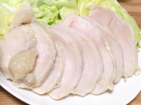 塩麹で鶏むね肉でもしっとり鶏ハム!