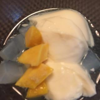 アーモンドミルクで☆杏仁豆腐風デザート