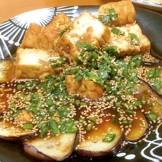 茄子と厚揚げの簡単おつまみセット(^^)/