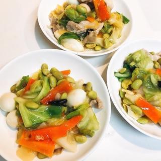 具沢山☆青豆の八宝菜