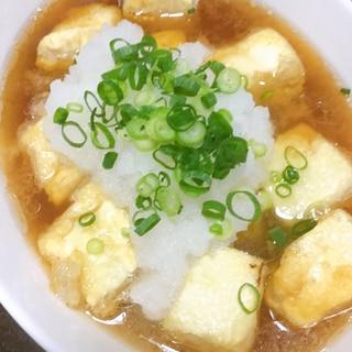 少ない油で、簡単揚げ出し豆腐!!