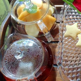 秋のティー♪りんごと柿の紅茶