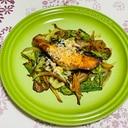 秋鮭と舞茸の味噌炒め