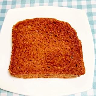 HBで☆ココアとアーモンドの食パン