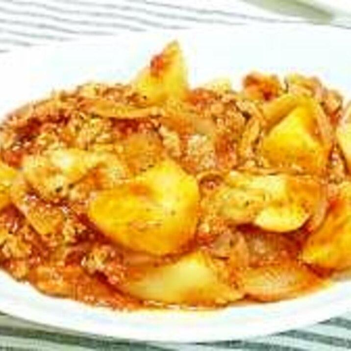簡単!豚肉とじゃが芋のトマト煮込み