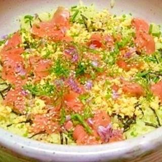 減塩☆アボカド酢飯の散らし寿司