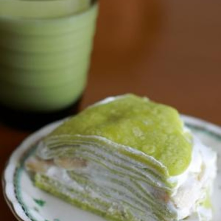 抹茶ミルクレープ