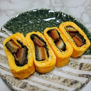 う巻き風☆海苔巻き鰻の卵焼き
