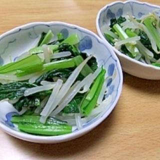ごま油が香ばしい♪小松菜の簡単おひたし