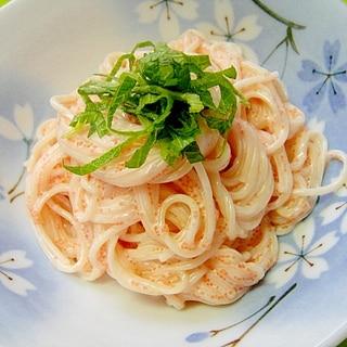 ピリ辛☆めんたい素麺サラダ
