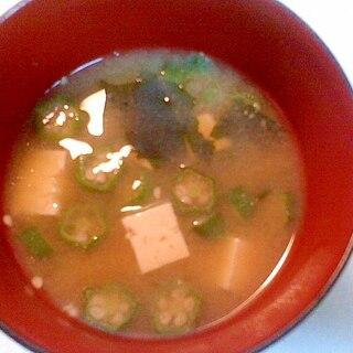 豆腐・わかめ・オクラの味噌汁