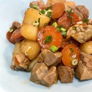 ほくほくジューシー♫豚肩ロースと長芋の煮物