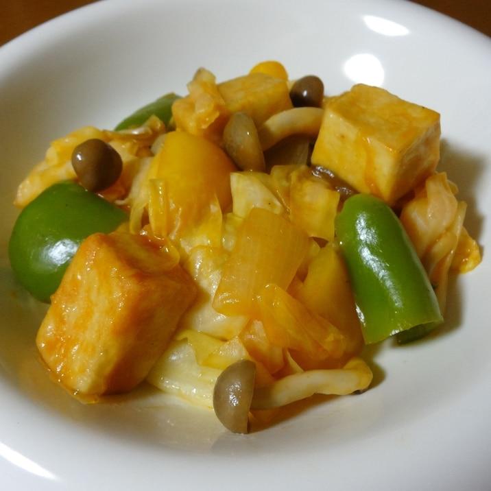 高野豆腐と野菜の酢豚風炒め