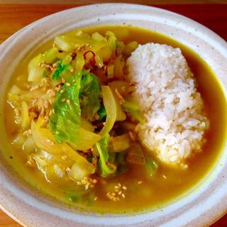 節約ランチ★野菜のスープカレー★