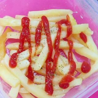 レンジで簡単アレンジ☆冷凍ポテトのしっとりおつまみ