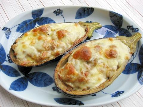 チーズがとろ~り♪米茄子のツナ味噌グラタン