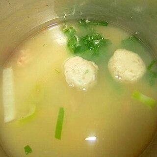 葱とダイコンつみれ味噌汁