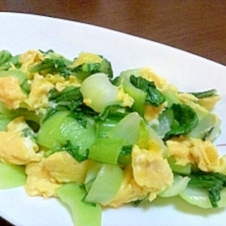こどもも作れる☆食べられる!?青梗菜と卵の炒め物
