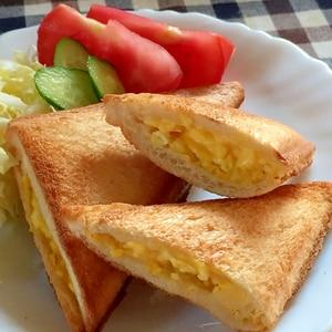 子供ウケ抜群♫卵ホットサンド