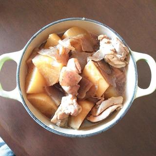 ホーロー鍋で柔らか煮