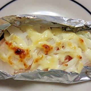 玉ねぎ入り鮭のホイル焼き