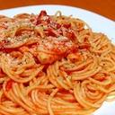 簡単トマトチキンパスタ