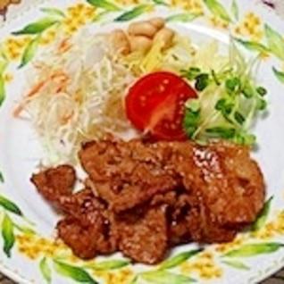 人気のオリーブオイルで豚の生姜焼き〜♪