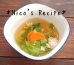 キャベツとにんじんの中華スープ