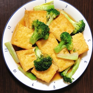 厚揚げ豆腐とブロッコリーのオイスター炒め