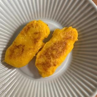 【離乳食】手づかみに♡かぼちゃと豆腐のおやき