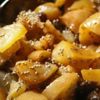 りんごと干し柿の煮物