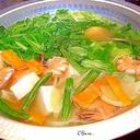 豆腐と海老と野菜の塩なべ