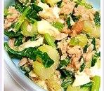 セロリの葉とツナの簡単炒め