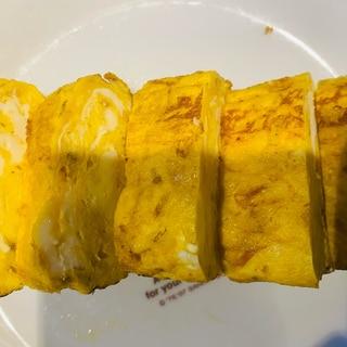 納豆のタレで卵焼き