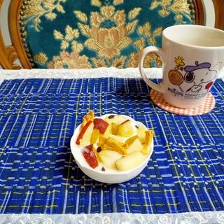 冷凍フルーツでヨーグルト