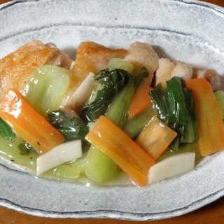 レモンでさっぱり!鶏もも肉の野菜あんかけ