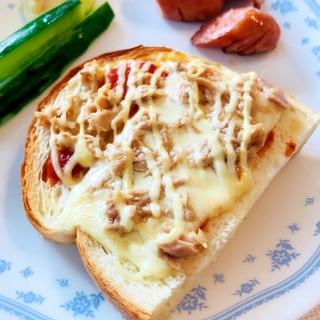 ★朝食★シーチキンのピザトースト