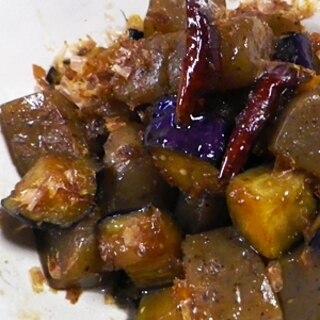 茄子蒟蒻の甘辛煮